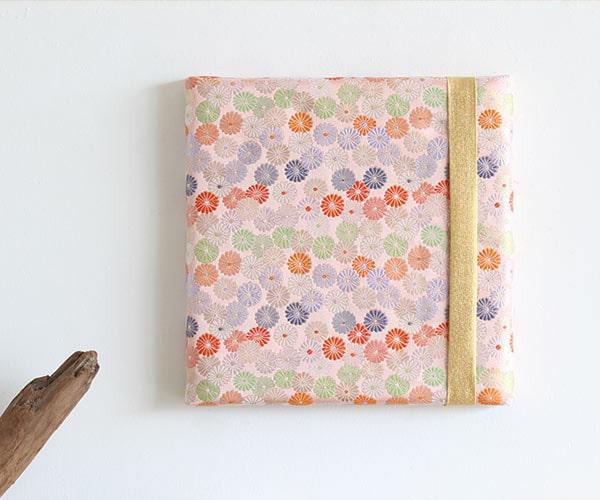 ファブリックパネル 西陣 菊ピンク