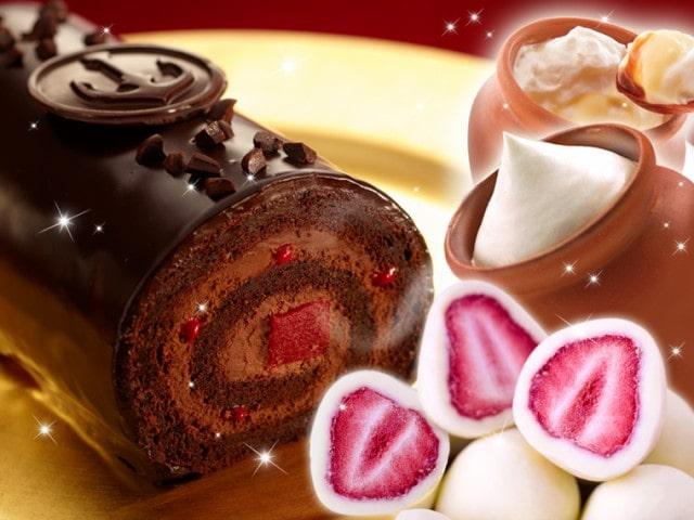 神戸ザッハロールと壷プリンと苺トリュフのセット