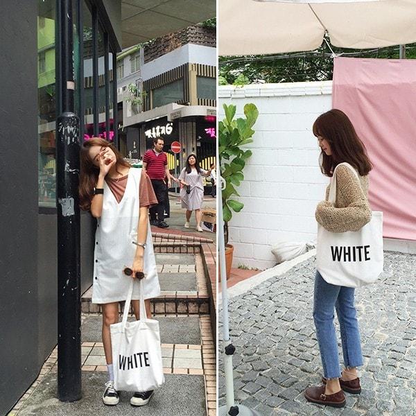 トートバッグ キャンバス 布 綿 カラフル シンプル エコバッグ