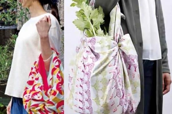 レジ前でもたつかない!一瞬で包める「風呂敷」はエコバッグに最適だった!