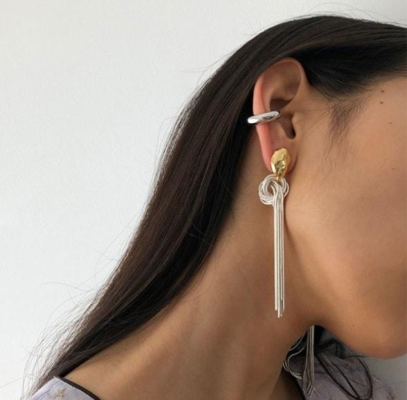 TODAYFUL トゥデイフル 20春夏 3月中旬予約 Snakechain Tie Earring スネークチェーンタイイヤリング