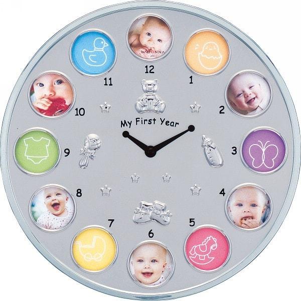 時計付ベビーフレーム