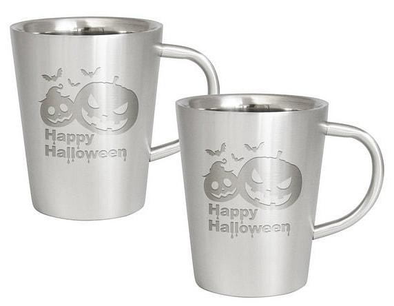 【ハロウィン】ハロウィン ダブルウォール ステンレスマグカップ ペア