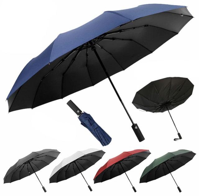 折りたたみ傘 自動開閉 頑丈な12本骨