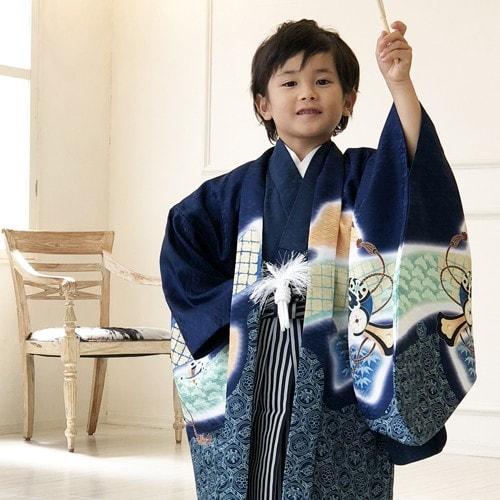 羽織着物フルコーディネートセット |レトロ|5歳向け