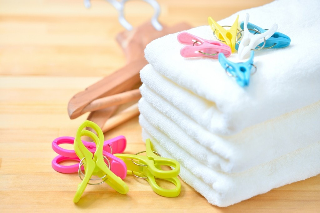 タオルかけを自作して衛生的なスペースに!