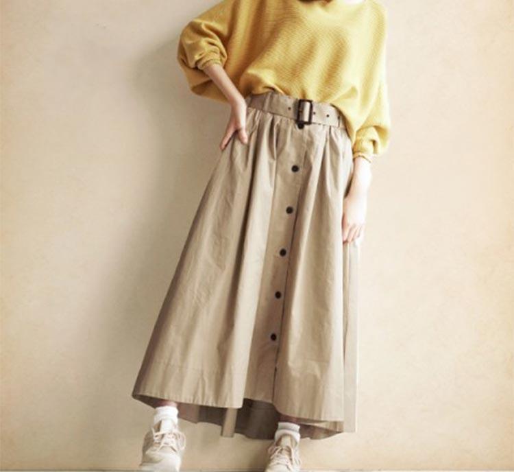 秋は【ロングスカート】でたのしみたい♡