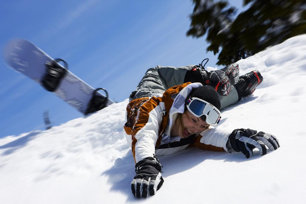 スノーボード 転倒