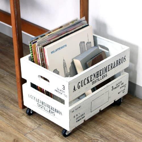 キャスター付き ボックス 木製 収納 アンティーク 雑貨