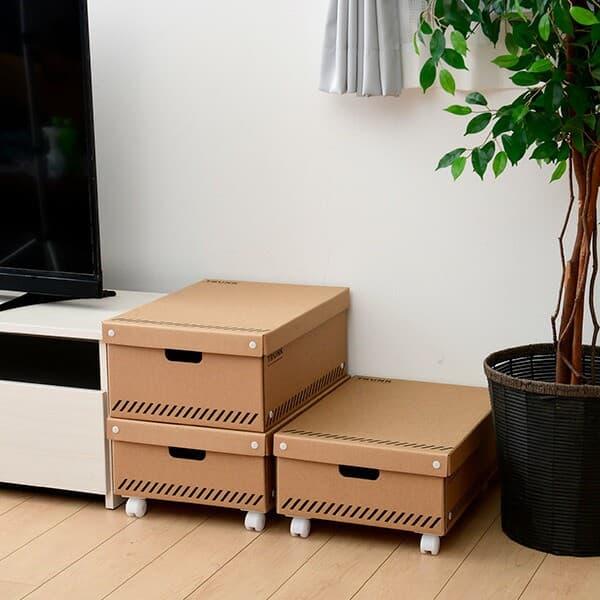 山善 YAMAZEN クローゼット 収納ボックス L 3個組 キャスター付き PDS-4055L3P