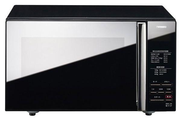 ツインバード ミラーガラスフラット電子レンジ ブラック DR-D269B