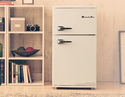 Grand-Line 2ドア レトロ冷凍/冷蔵庫