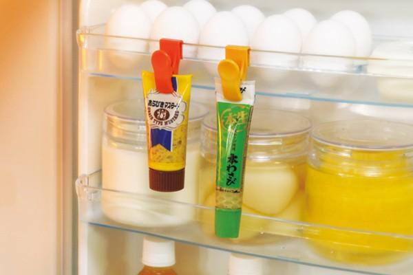冷蔵庫収納 チューブクリップ 4個組