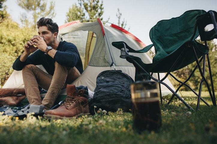 1人でテント
