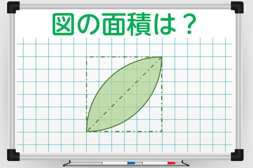 どうすれば計算できるのかを考えるだけでも脳トレに!?図の面積は?