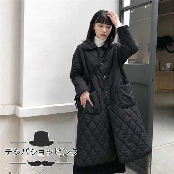『襟付きキルティングコート』