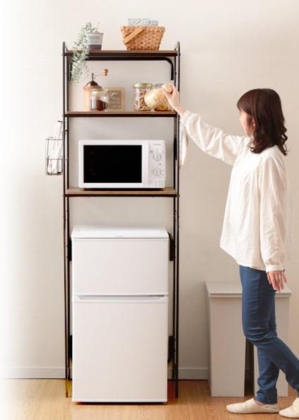 冷蔵庫上のデッドスペースを有効利用☆