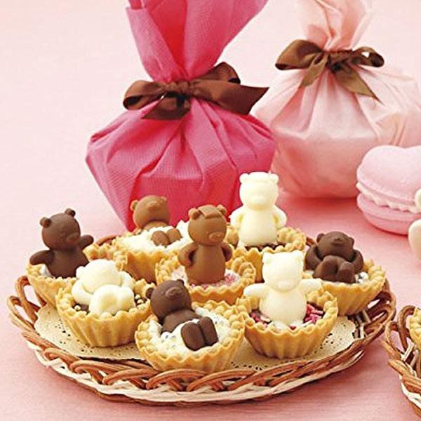 チョコレート型 シリコン製 お風呂 クマ