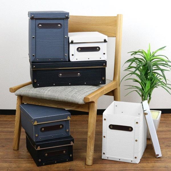 収納ボックス フタ付き 木目調 アンティークスタイル 同色3個セット