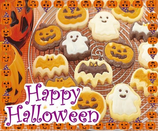 クッキー型 ハロウィン チョコクッキー型 コウモリ かぼちゃ おばけ