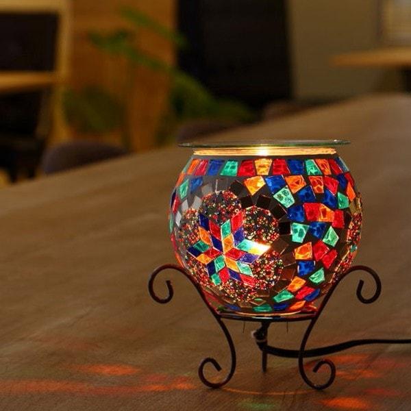 照明 アロマランプ モザイク ガラス ユルドゥズ テーブルランプ コード式