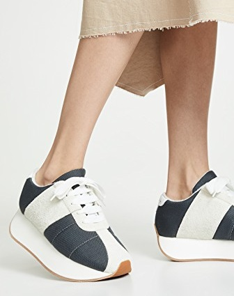 マルニ スニーカー ロートップ ローカット レディース【Marni Platform Sneakers】Grey