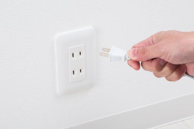 電源の種類をチェック