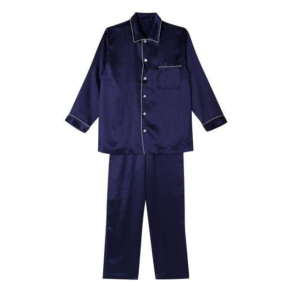 (ワコール)Wacoal 睡眠科学 メンズ シルクサテン シャツパジャマ