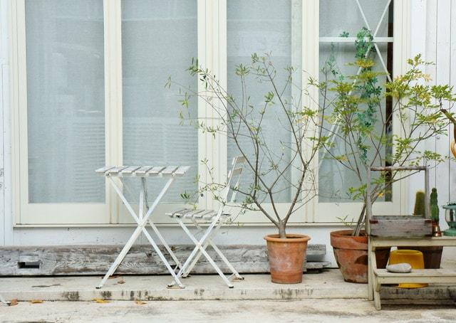 ベランダ植木鉢