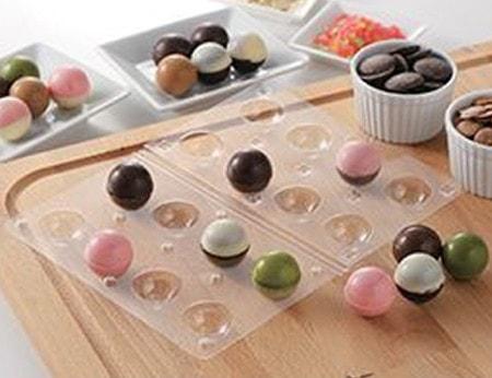 チョコレート型 ボール型 チョコモールド モールドキラリ ハロウィン ( 型 丸型 )