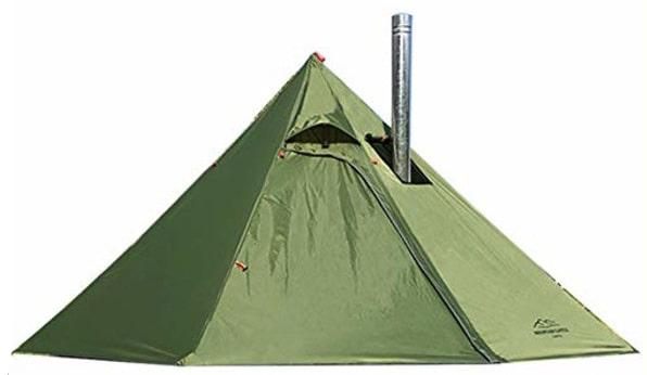 Preself テント ワンポールテント 2-3人用 換気窓あり テント内料理・焚火可