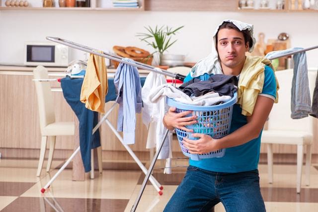 洗濯物はため込まない!