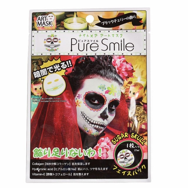 PURE SMILE ナイトメアアートマスク シュガースカル 1枚入り