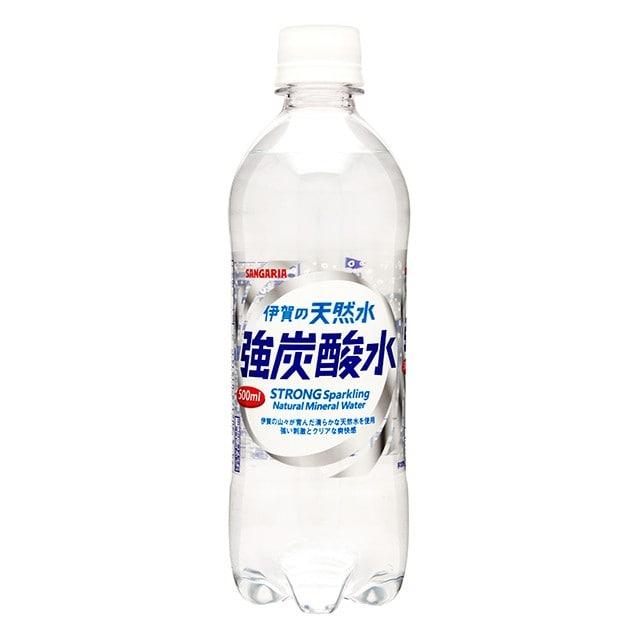 サンガリア 伊賀の天然水 強炭酸水 500ml