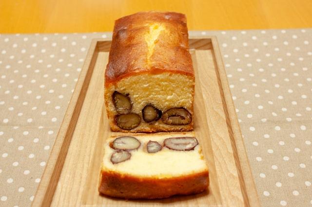 栗の米粉パウンドケーキ