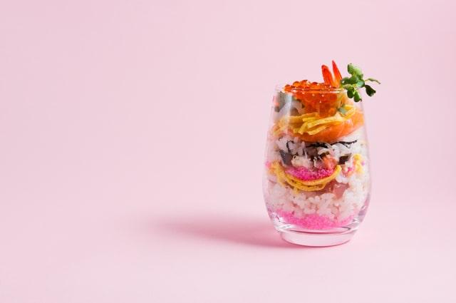 グラスちらし寿司