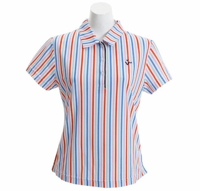 ビバハート|ストライププリント半袖シャツ