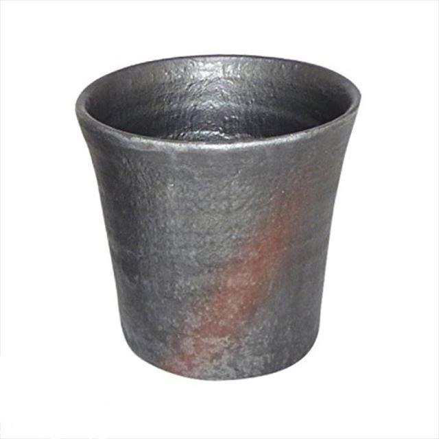 日本製 スイト アルミ製 落としても割れないロックカップ 黒柿釉 300cc ビールグラス ビア グラス コップ