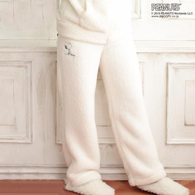 スヌーピー もこもこ ロングパンツ SNOOPY キャラクター パジャマ
