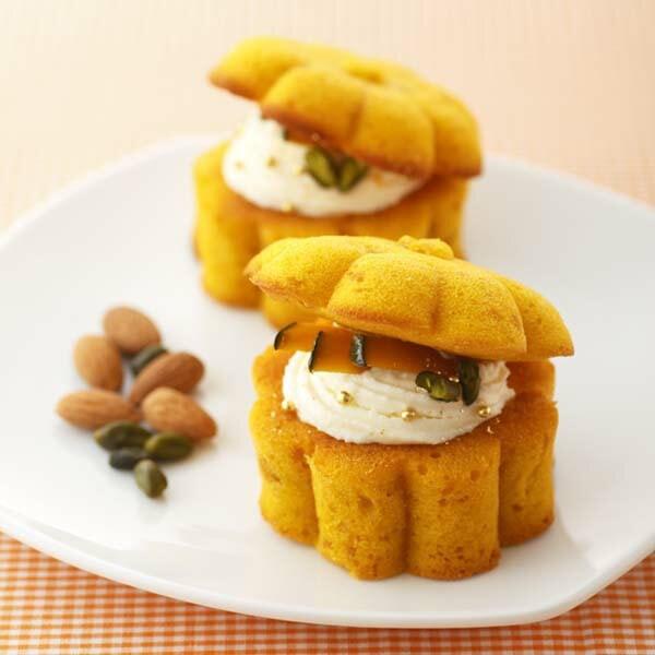 貝印×クックパッド コラボ商品 まるごと食べられるカボチャのケーキ型