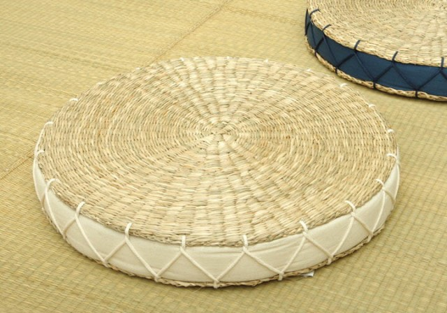 シーグラス素材の円形座布団 カルロ
