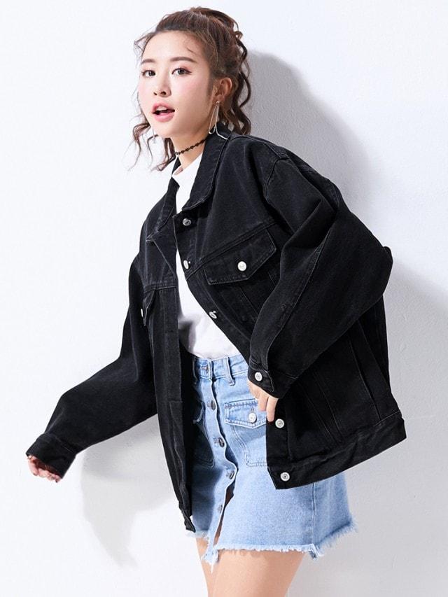 ブラックGジャン かっこいいデニムジャケット