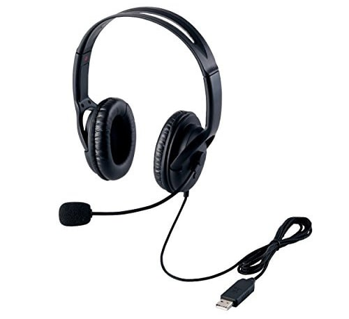 ELECOM(エレコム) USBヘッドセット HS-HP28UBK