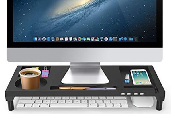 PC業務が劇的にはかどる?!収納&USBポート装備のモニター台が神すぎる