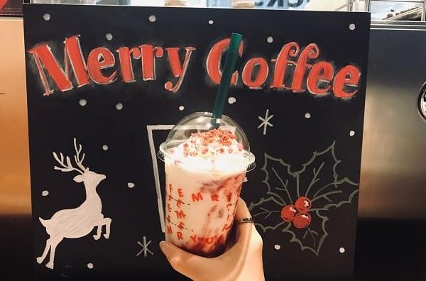 スタバ新作は飲むクリスマスケーキ!気分は一足早いクリスマス!?