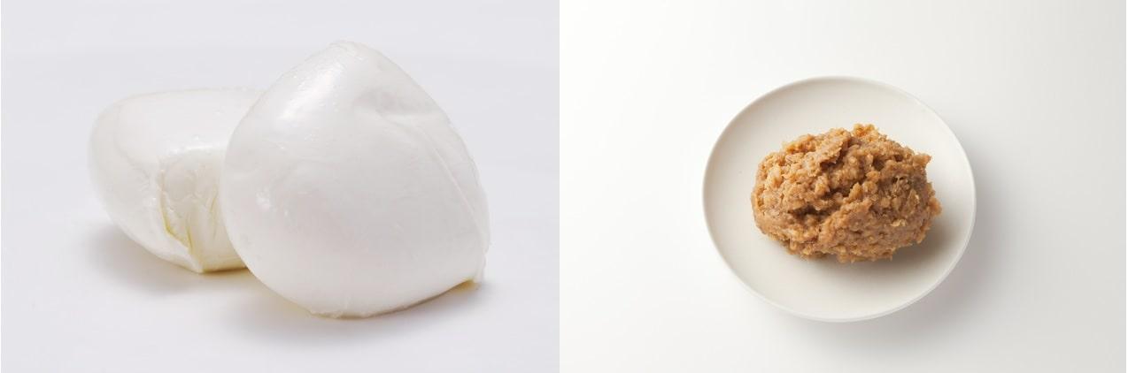 モッツァレラチーズと味噌