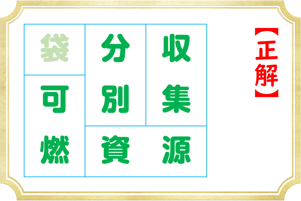熟語を作ると余る漢字はどれになる?