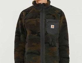 カーハート CARHARTT WIP メンズ フリース トップス prentis funnel-neck camo-print fleece jacket Camo evergreen