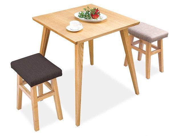 木製ダイニングテーブル&スツールセット