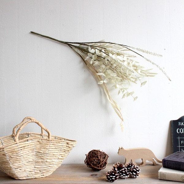 グラスブッシュ ホワイト 造花